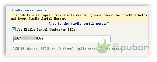 When to use Kindle Serial Number