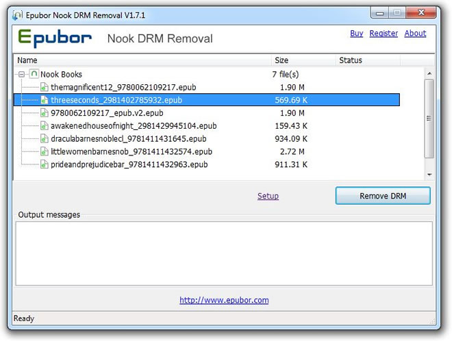 Epubor Nook DRM Removal full screenshot