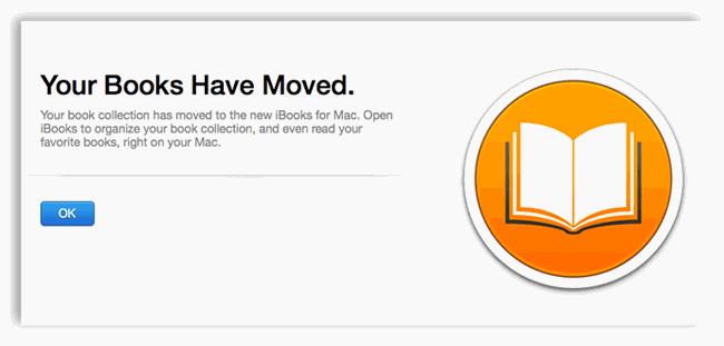 iBooks have moved in mac os x 10.9 mavericks