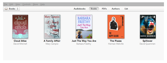 itunes books library