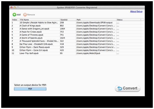 Epubor EPUB to PDF Converter for Mac 2.1.0.10 full