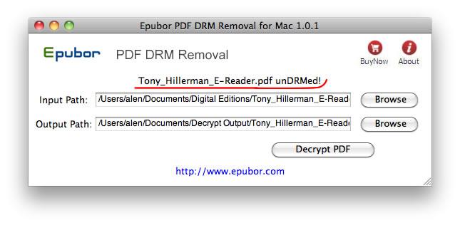 PDF DRM Removal per Mac