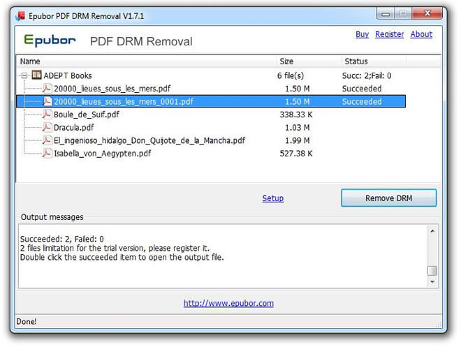 Windows 7 Epubor PDF DRM Removal 2.0.9.7 full