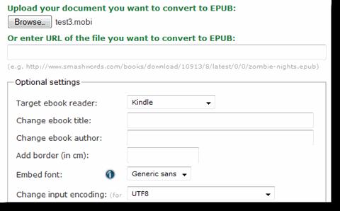 конвертер в epub онлайн