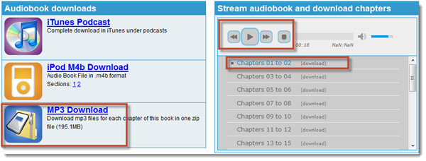 how to download an audio book to an android