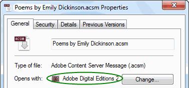 convert ACSM to EPUB - always open with ADE