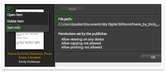 Adobe DRM - file path