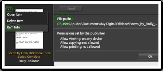 Adobe DRM - file path