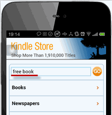 read Kindle books on Android - buy books - input free book