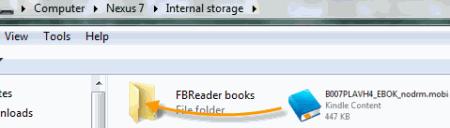 transfer Kindle books to Nexus 7