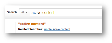 search active content