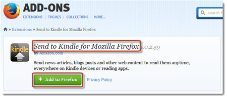how to send documents to kindle wirelessly-add-extension-to-firefox