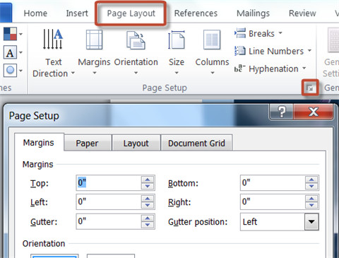 convert cbr to pdf-page layout menu