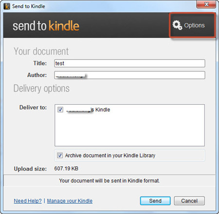 How to send documents to Kindle wirelessly