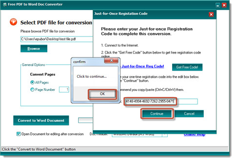 convert pdf to word-completer registration