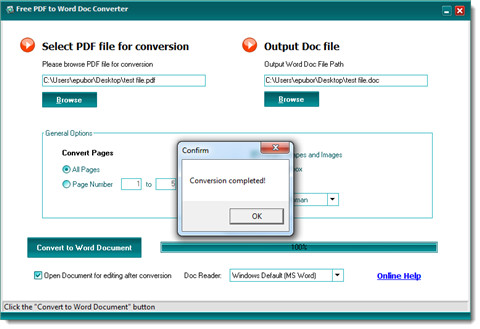 convert pdf to word-complete convsersion