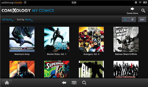 read comics on kindle fire-Manage your comics
