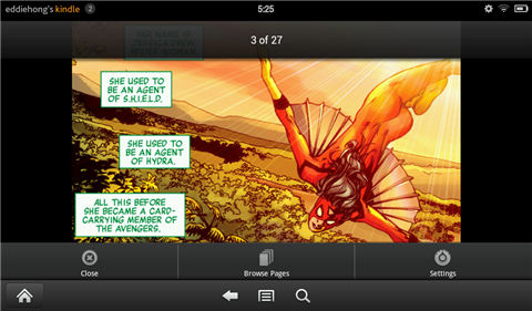 read comics on kindle fire-Reading interface