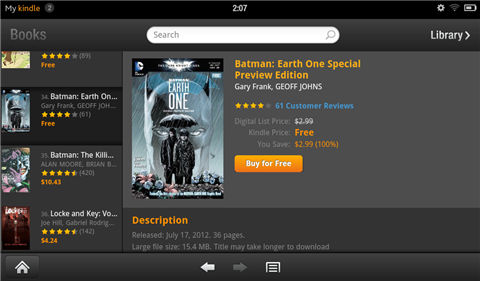 read comics on kindle fire-Select comics and purchase