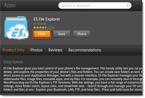 connect kindle fire to pc wirelessly-install es file explorer