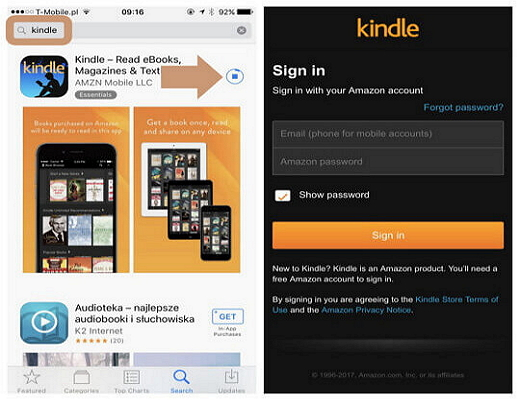 How to purchase and download books from Kindle for iPad?