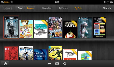 "read comics on kindle fire-Find the comic in ""Books"""