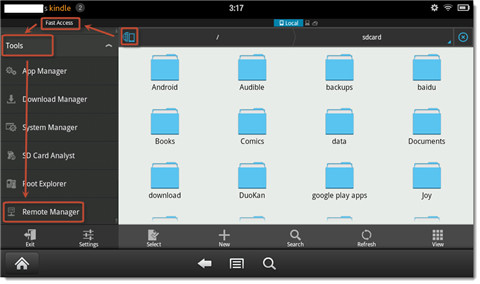 connect kindle fire to pc wirelessly-remote manager