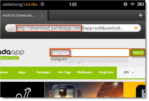 Get Instagram on Kindle Fire