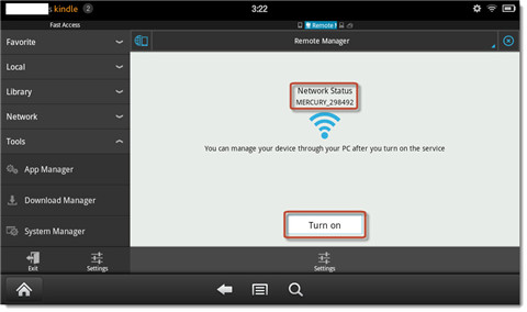 connect kindle fire to pc wirelessly-network status