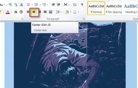 convert cbr to pdf-set image alignment