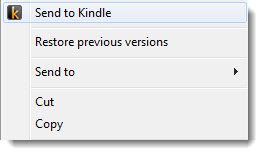 how to send documents to kindle wirelessly-right-click