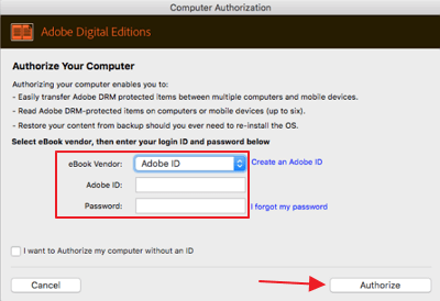authorize computer with adobe id