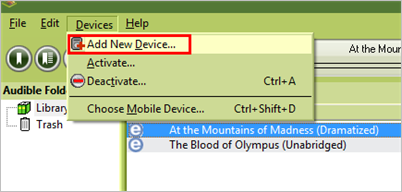 add mp3 player to audible manager