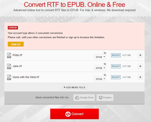 Free RTF to EPUB Converter