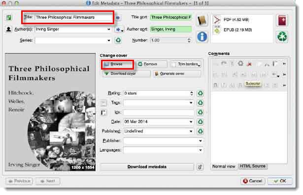 Edit metadata individually