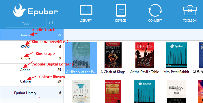 Epubor ebook manager
