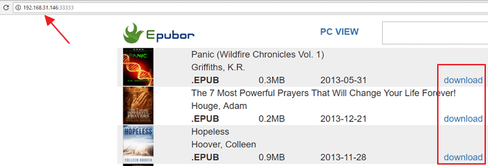 epubor ebook manager webserver