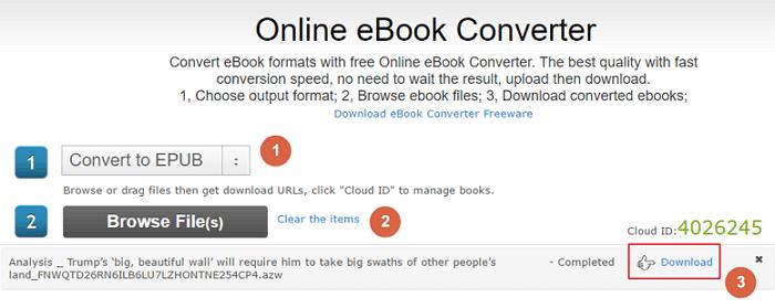 Epubor online converter