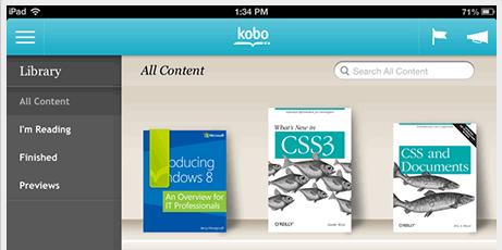 Kobo App for iPad