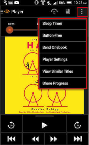 How to listen to books on audible