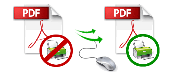 how to print secured pdf files