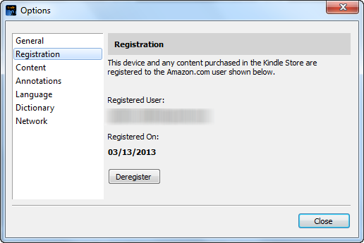 Register Kindle for PC 2