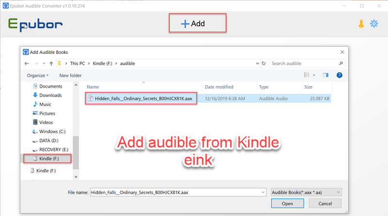 add audiobooks to audible converter