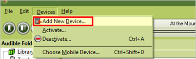 add audible compatible mp3 player to audible manager
