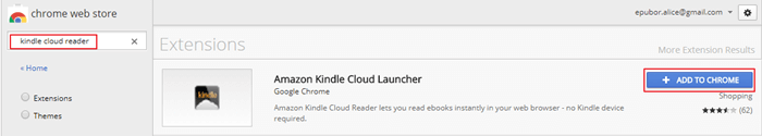 add kindle cloud reader to chrome