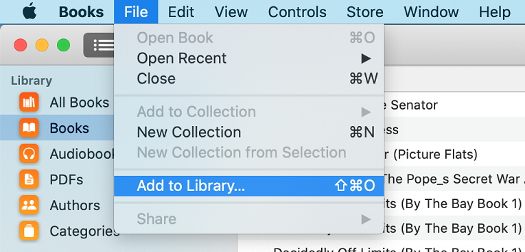 add kindle to apple books