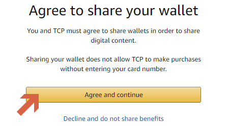 agree to shar your wallet