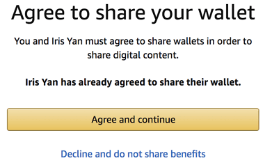 agree to share wallet