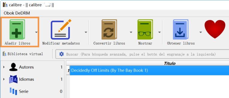 Añadir libros