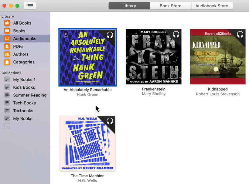 apple books audiobook manager